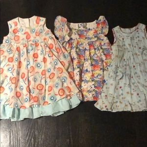 Lot of 3 floral toddler dresses
